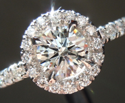 SOLD....Diamond Ring: .56ct H VS2 Round Brilliant Diamond Halo Ring GIA R6405