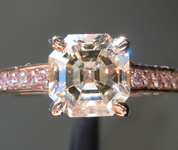Brown Diamond Ring: 1.36ct S-T, Light Brown SI1 Asscher Cut Diamond Ring GIA R6455