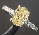 SOLD....1.11ct Fancy Yellow SI1 Oval Diamond Ring R6525