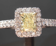 .50ct Y-Z VVS2 Radiant Cut Diamond Ring R6590