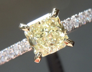 1.01ct Fancy Light Yellow SI1 Radiant Cut Diamond R6642
