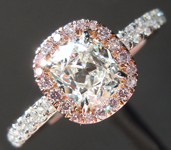 Diamond Ring: .74ct H SI1 Old Mine Brilliant Diamond Halo Ring GIA R6655