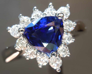 SOLD...1.22ct Blue Trilliant Sapphire Ring R6686