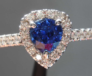 SOLD....0.87ct Blue Pear Shape Sapphire Ring R6689
