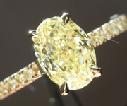 Yellow Diamond Ring: 1.58ct Fancy Yellow SI2 Oval Diamond Ring GIA R6772