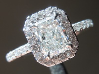 0.91ct G SI1 Radiant Cut Diamond Ring GIA R6802