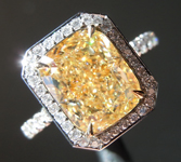 3.50ct Y-Z SI1 Cushion Cut Diamond Ring GIA R6918