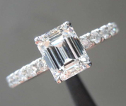 1.04ct F VVS1 Emerald Cut Diamond Ring R6926