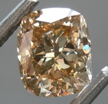 SOLD.......Loose Brown Diamond: 1.02ct Fancy Light Yellowish Brown SI2 Cushion Modified Brilliant Diamond GIA R6979
