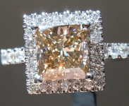 1.28ct Brown I1 Princess Cut Diamond Ring R6982