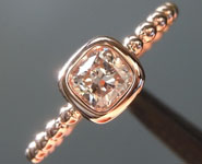0.47ct M (Brown) VS2 Cushion Cut Diamond Ring R6995
