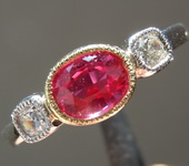 SOLD.....90ct Oval Brilliant Ruby Ring R7030