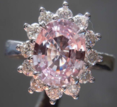 2.01ct Baby Pink Oval Sapphire Ring R7032