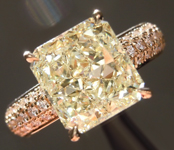 Yellow Diamond Ring: 3.01ct Y-Z SI1 Radiant Cut Diamond Ring GIA R7063