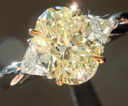 SOLD....1.63ct Y-Z VS1 Oval Diamond Ring R7114