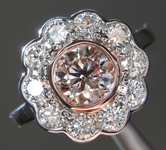 1.01ct Purplish Brown I1 Round Brilliant Diamond Ring R7135