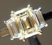 SOLD... 1.32ct W-X VS2 Emerald Cut Diamond Ring R7156