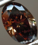 SOLD... 2.42ct Dark Orangy Brown VVS1 Oval Diamond GIA R7159