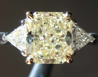 SOLD....1.63ct W-X VVS2 Radiant Cut Diamond Ring R7185