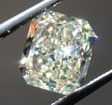 SOLD.........Loose Yellow Diamond: 1.63ct W-X VVS2 Radiant Cut Diamond GIA R7185
