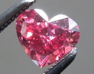 SOLD......Argyle Red Diamond: .38ct Fancy Purplish Red VS2 Heart Shape Diamond GIA R7218