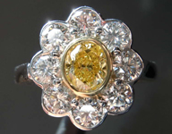 SOLD.....0.60ct Intense Yellow VS2 Oval Shape Diamond Ring R7268