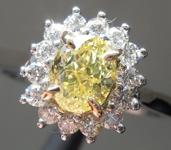 0.72ct Intense Yellow SI1 Oval Shape Diamond Ring R7274