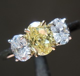 SOLD....63ct Fancy Yellow IF Oval Diamond Ring R7276