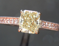 0.86ct Yellow SI2 Radiant Cut Diamond Ring R7282