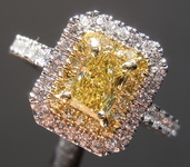 .51ct Intense Yellow VS2 Radiant Cut Diamond Ring R7288