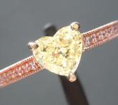0.85ct Yellow VS2 Heart Shape Diamond Ring R7290