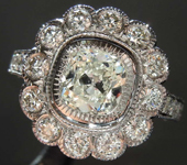 1.02ct J I1 Cushion Cut Diamond Ring R7304