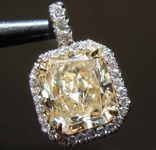 2.12ct U-V VVS2 Radiant Cut Diamond Pendant R7339