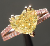 2.01ct Intense Yellow SI1 Heart Shape Diamond Ring R7362
