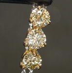 SOLD.......Yellow Diamond Pendant: .74ctw S-T VS-SI Round Brilliant Diamond Necklace R7391