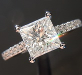 SOLD...1.24ct G I1 Princess Cut Diamond Ring R7461