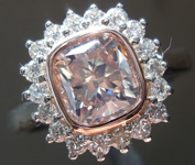 SOLD...1.39ct W-X (Brown) SI2 Cushion Cut Diamond Ring R7469