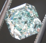 Loose Diamond: 1.02ct Fancy Bluish Green I1 Radiant Cut Diamond GIA R7486