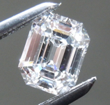 Loose Colorless Diamond: .58ct E VS1 Emerald Cut Diamond GIA R7563