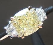 SOLD....1.21ct W-X VVS2 Cushion Cut Diamond Ring R7605