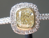 1.01ct W-X VS2 Cushion Cut Diamond Ring R7607