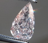 Loose Pink Diamond: .53ct Fancy Light Orangy Pink I1 Pear Brilliant Diamond GIA R7674