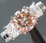 1.61ct Pinkish Brown SI2 Round Brilliant Diamond Ring R7684
