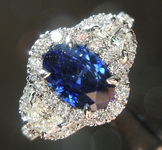 SPECIAL! 1.84ct Blue Oval Sapphire Ring R7690