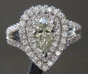 SOLD....0.79ct K VS2 Pear Brilliant Diamond Ring R7703