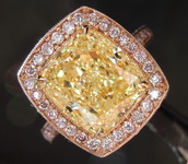 5.02ct Fancy Yellow SI2 Radiant Cut Diamond Ring GIA R7788