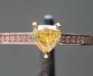0.32ct Yellow SI2 Heart Shape Diamond Ring R7802