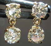SOLD....90ctw Fancy Light Brownish Yellow VS2-SI1 Round Brilliant  Diamond Earrings R7810