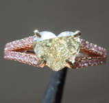 SOLD...1.54ct U-V VS1 Heart Shape Diamond Ring R7860
