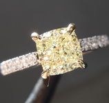 1.26ct Y-Z VS1 Cushion Cut Diamond Ring R7861